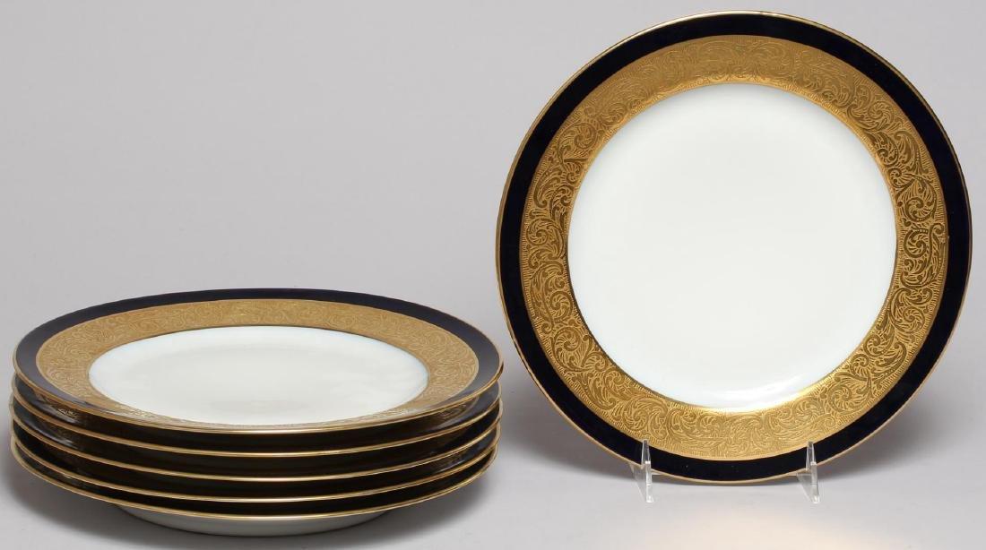 Vintage Continental Blue, White & Gold Dinnerware - 2