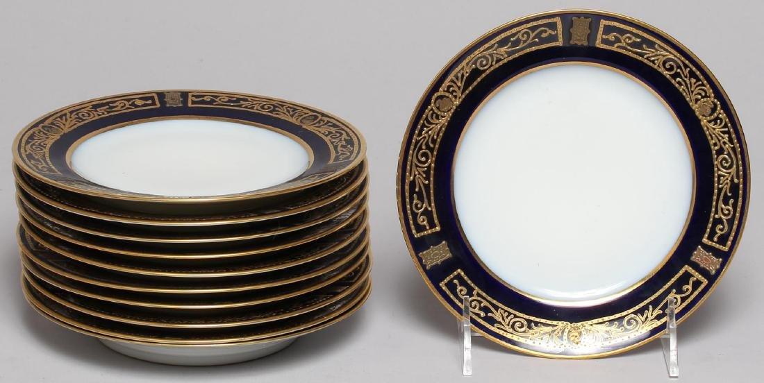 Vintage Continental Blue, White & Gold Dinnerware - 4