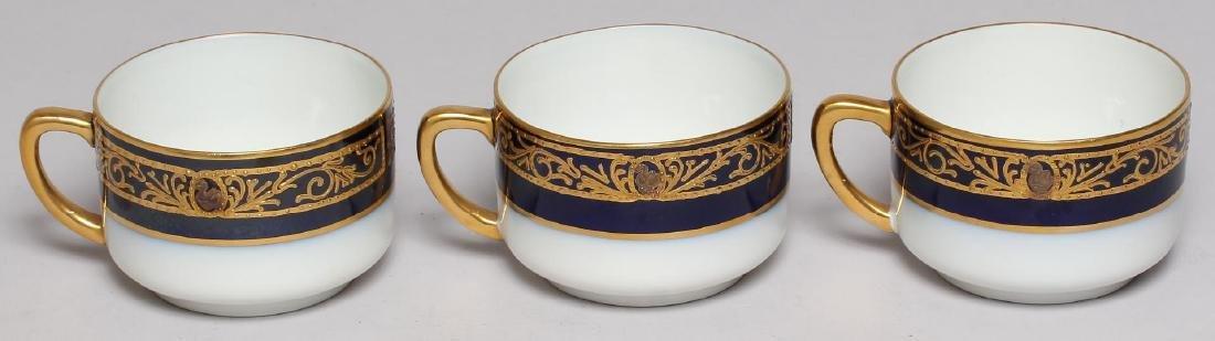 Vintage Continental Blue, White & Gold Dinnerware - 5