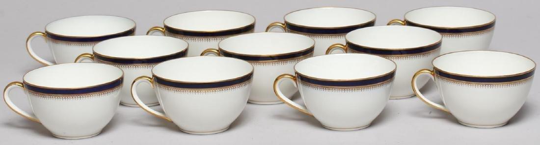 Vintage Continental Blue, White & Gold Dinnerware - 6