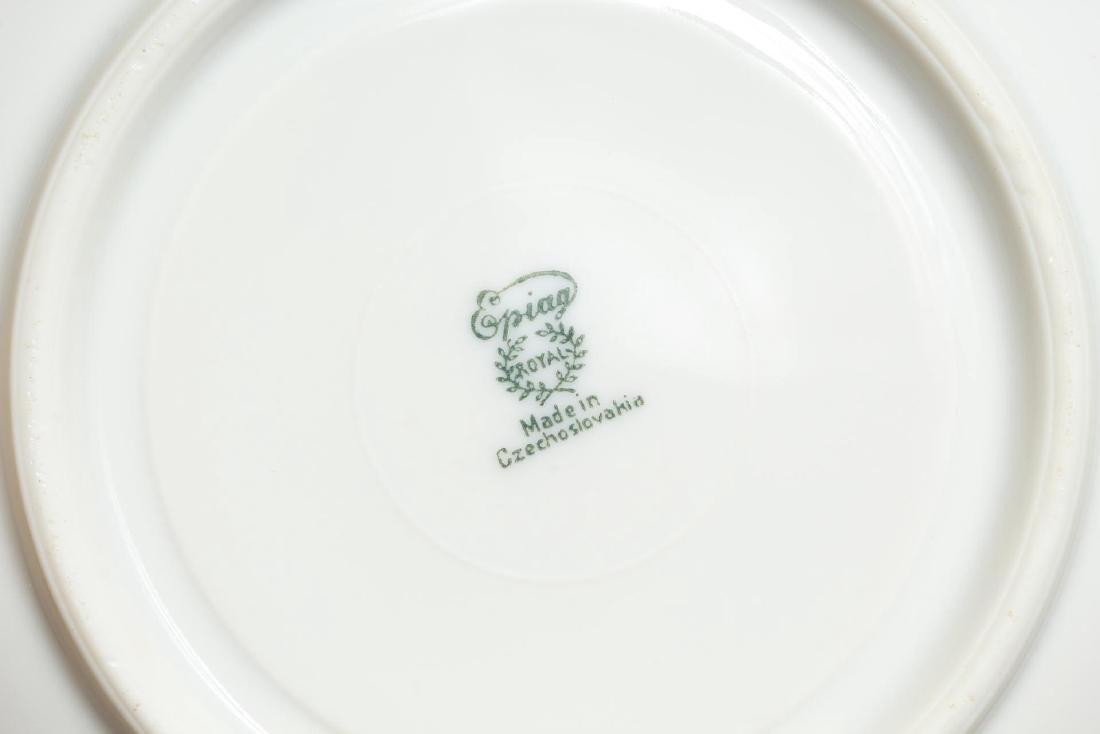 Vintage Continental Blue, White & Gold Dinnerware - 9