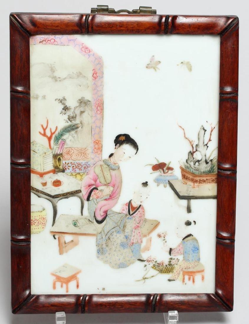 Antique Chinese Painted Porcelain Plaque