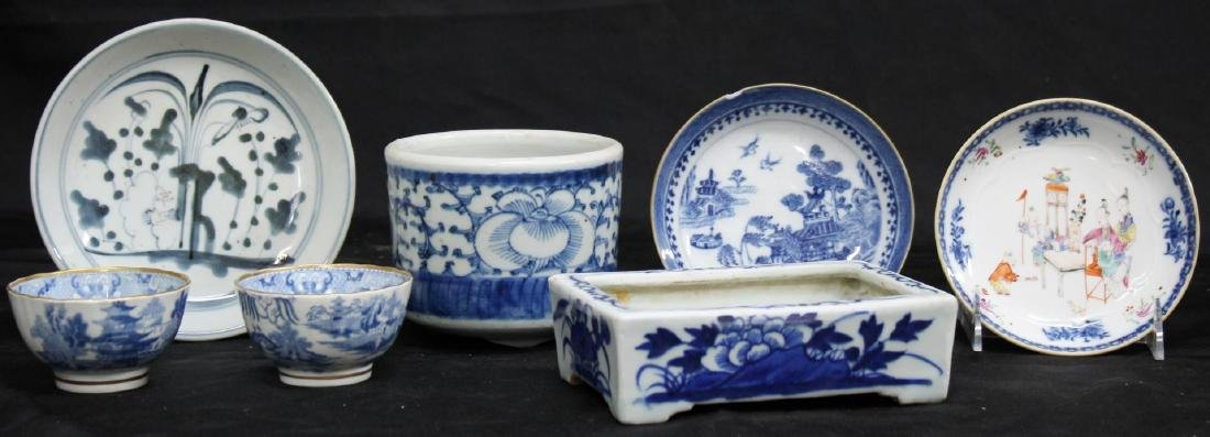 Small Group of Chinese Blue & White Porcelain