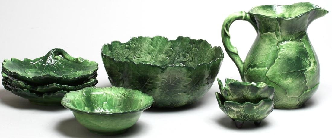 "Group of Vietri Italian ""Oak Leaf"" Ceramic Ware - 2"