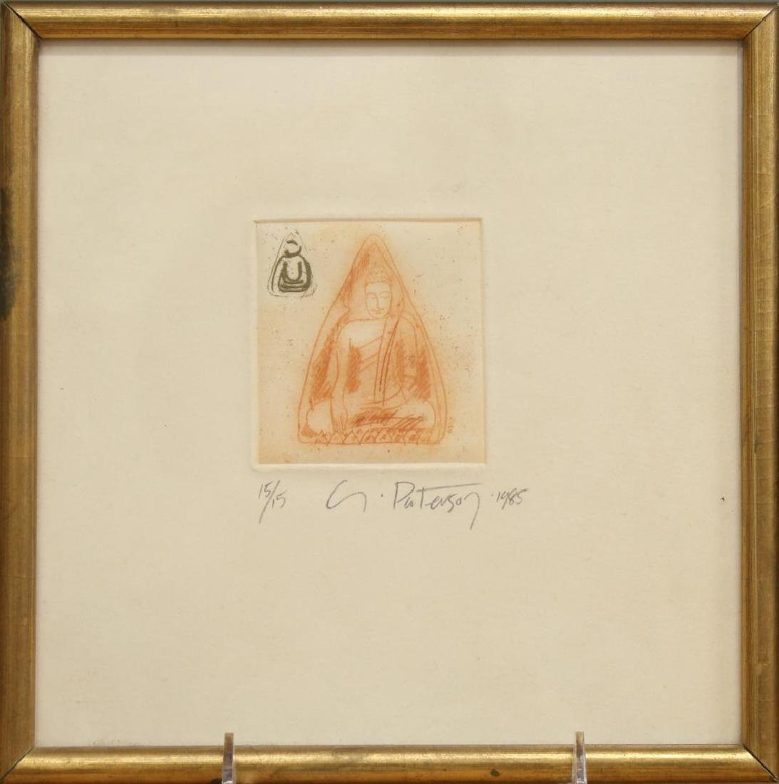 Signed G. Paterson- Buddhist Etching