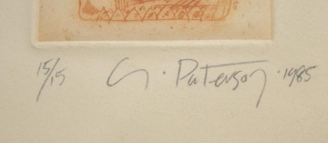 Signed G. Paterson- Buddhist Etching - 2