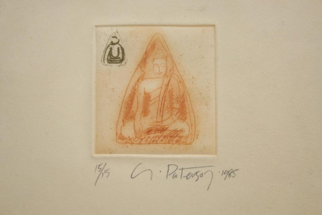 Signed G. Paterson- Buddhist Etching - 3