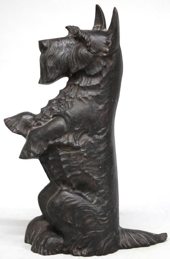 Large Cast Iron Black Scottish Terrier Doorstop