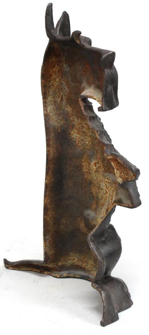 Large Cast Iron Black Scottish Terrier Doorstop - 3