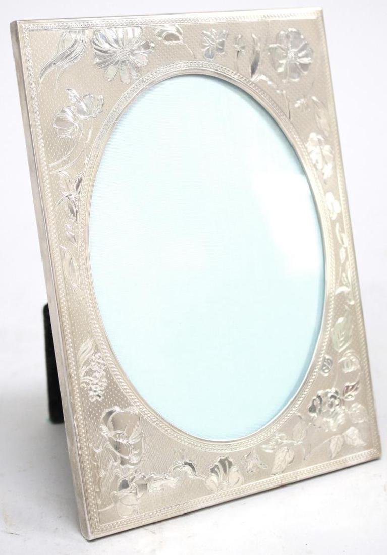 Tiffany & Co. Chased Sterling Silver Picture Frame