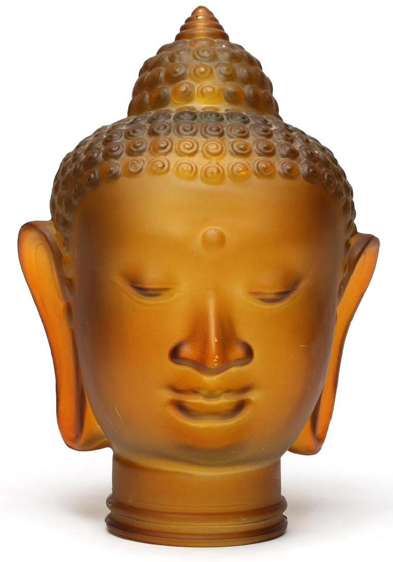 Cast Glass Buddha Head Lampshade