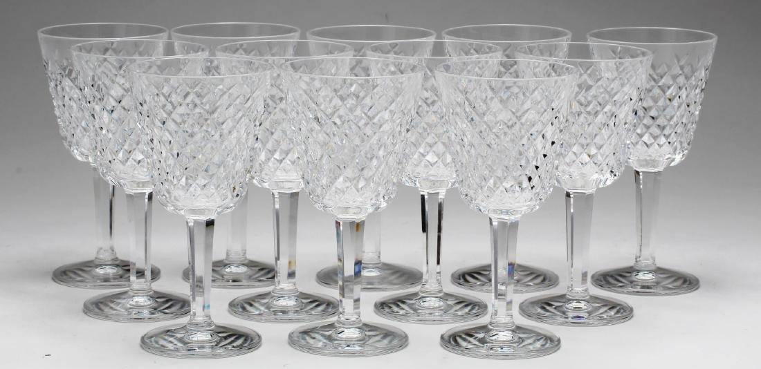 "12 Waterford Crystal ""Slane"" Claret Wine Glasses"