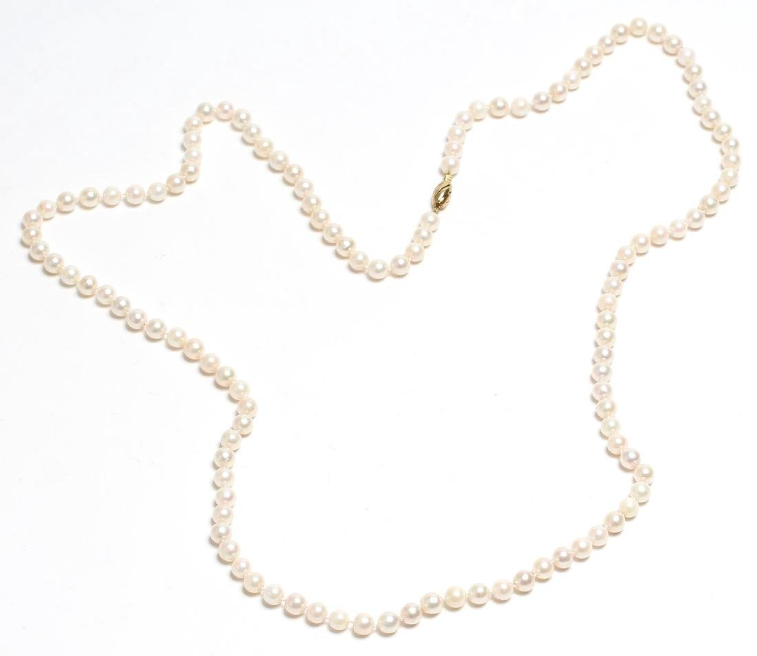 Freshwater Pearl & 14K Strand Necklace