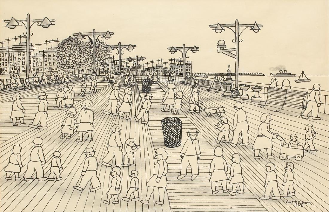 Vestie Davies (American, 1903-1978) -Ink/Pencil