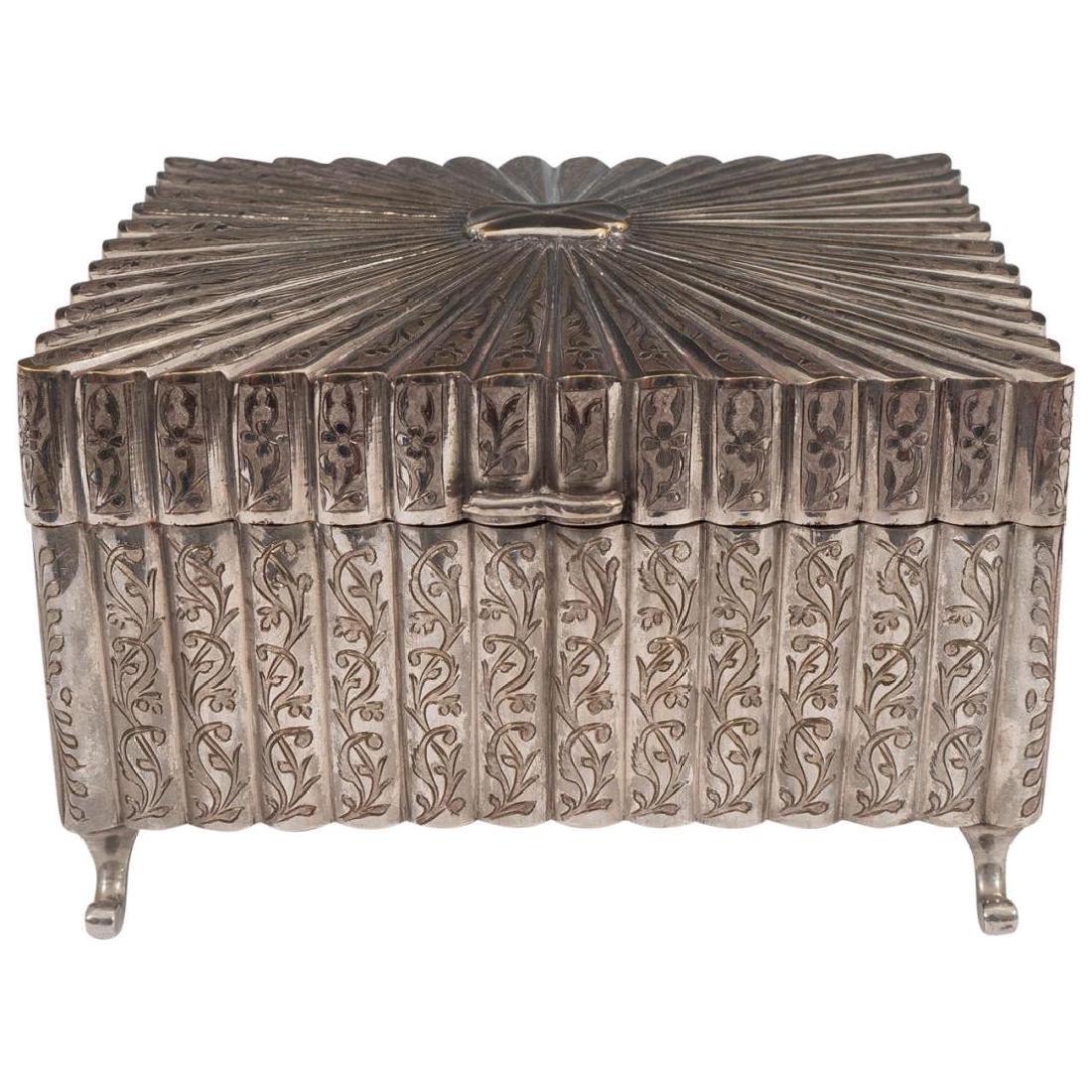 Rare Fred Zimbalist Thorens Silver-Plate Music Box