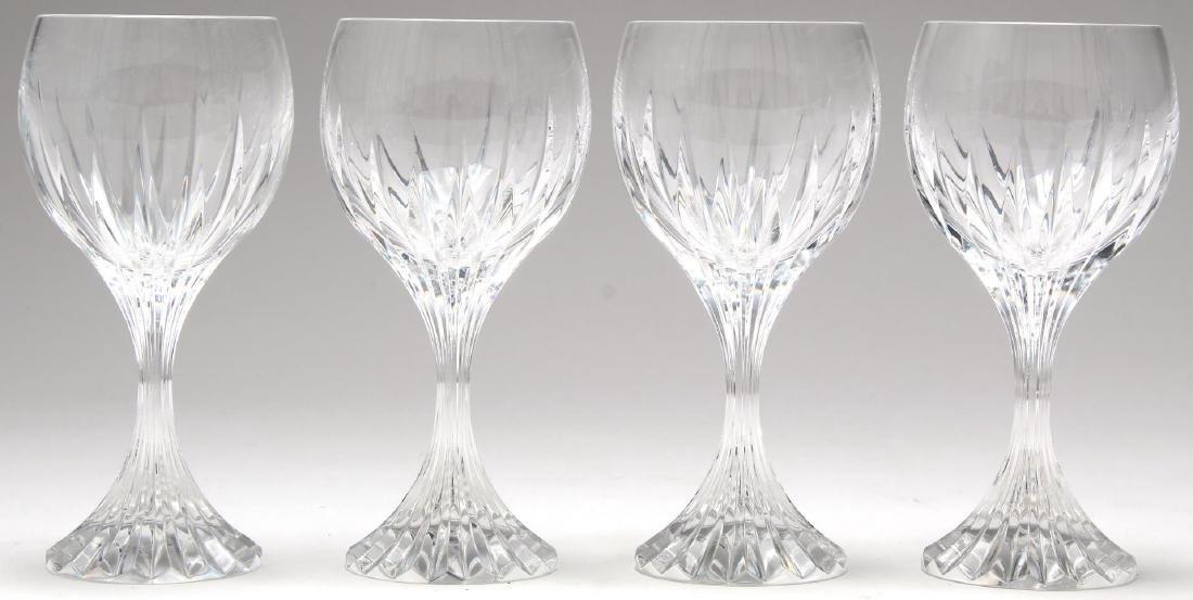 4 Baccarat Massena White Wine Glasses