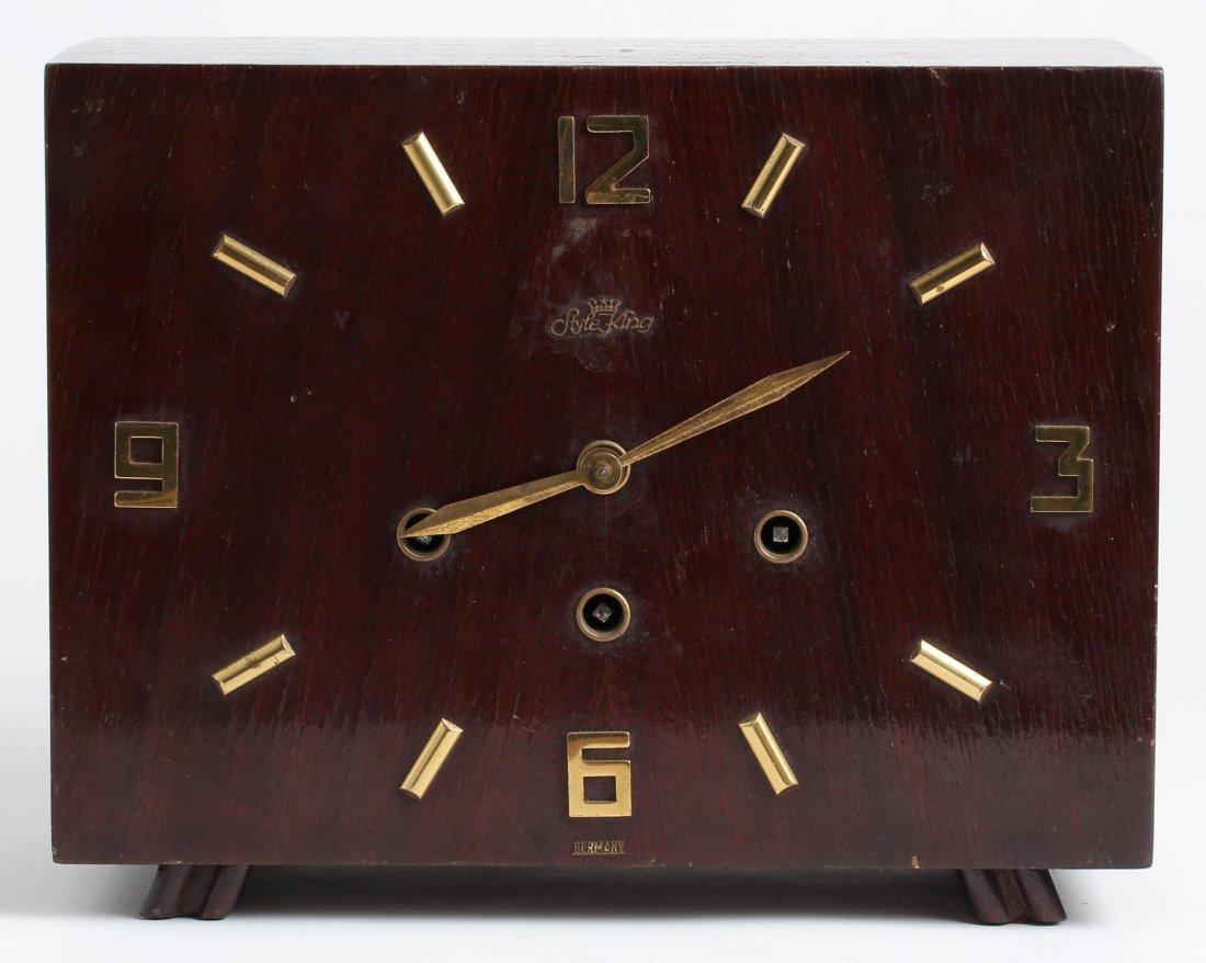 "Mid-Century German ""Style King"" Mantel Clock"