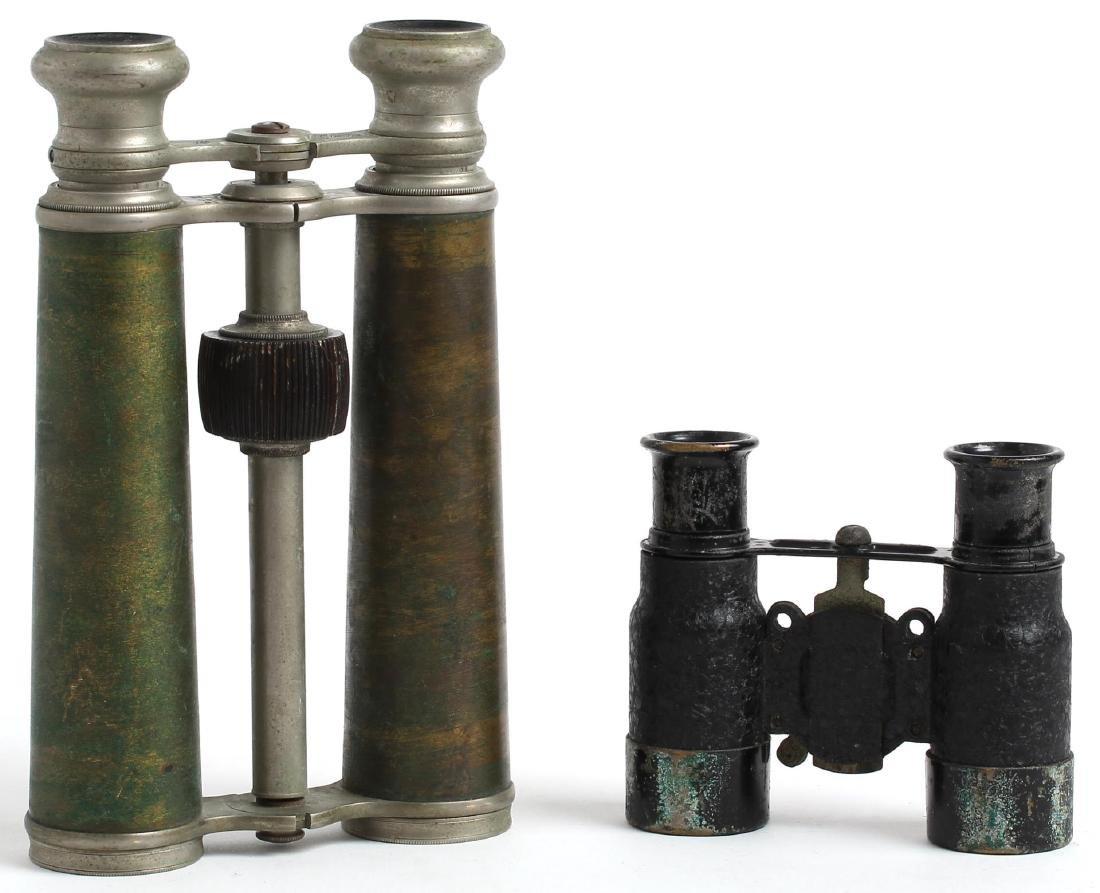Two pair of Antique Binoculars, inc. Audemair