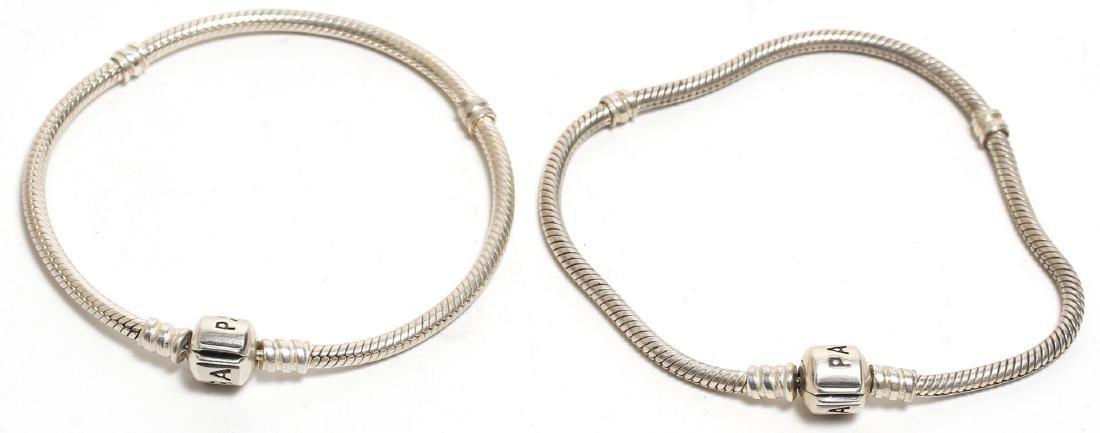 Pandora Pair of Sterling Silver Chain Bracelets