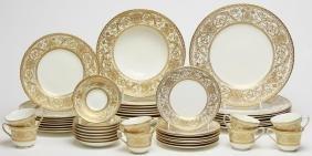 Royal Worcester English Gilt Porcelain Service
