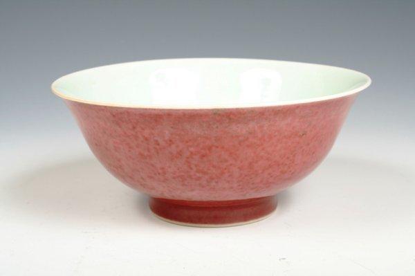 4: 20 c Chinese Peach-Bloom Glaze Bowl