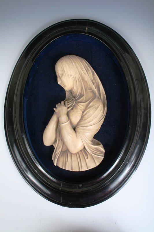 5: Plaster/Composite High Relief Figure of a Veiled Wom