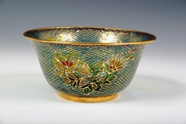 19: Small Cloisonne Bowl with Floral Details
