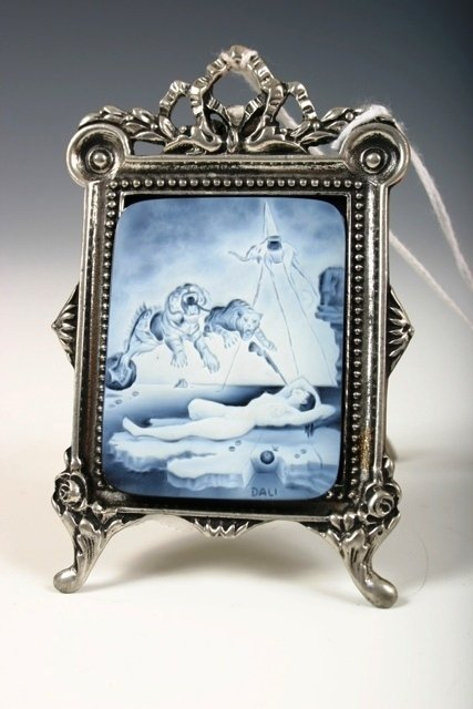 20: Michael Peuster Carved Dali Cameo in Pewter Frame