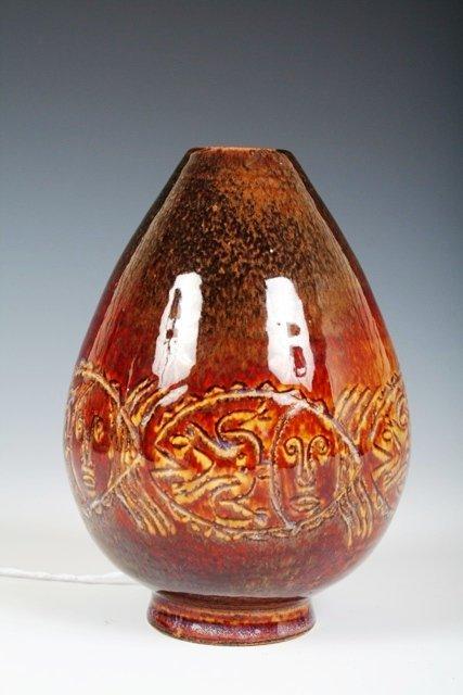 32: Mary & Edwin Scheier Brown Glaze Vase