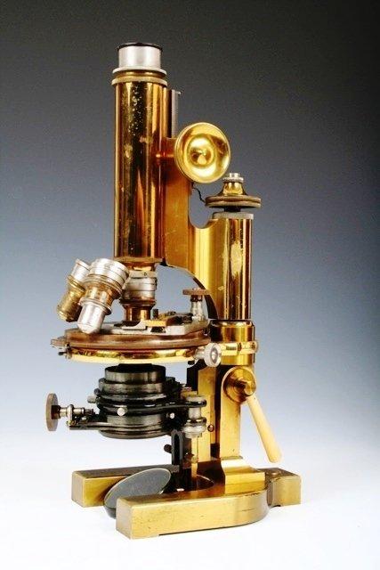 104: Bausch & Lomb Brass Microscope American 20 C. #259