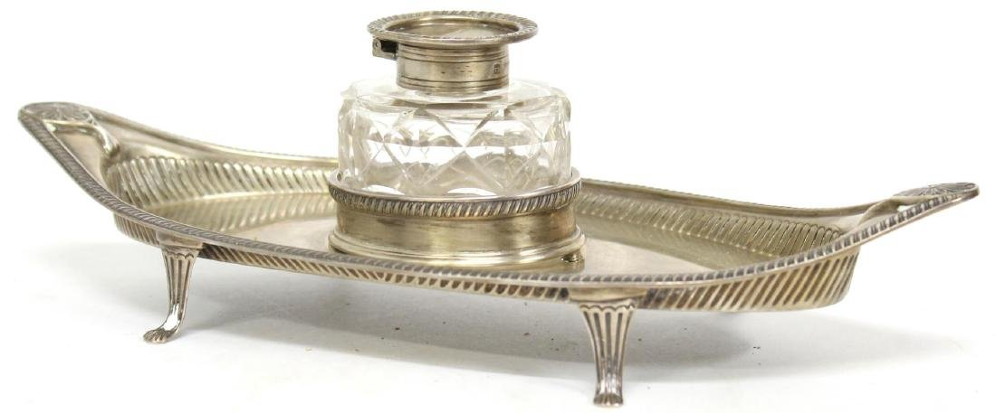Thomas Barker English Sterling Silver Inkwell