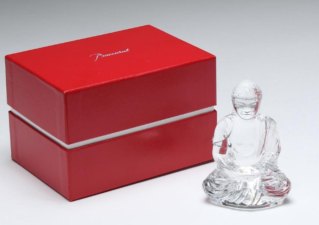 Baccarat Crystal Buddha Figure