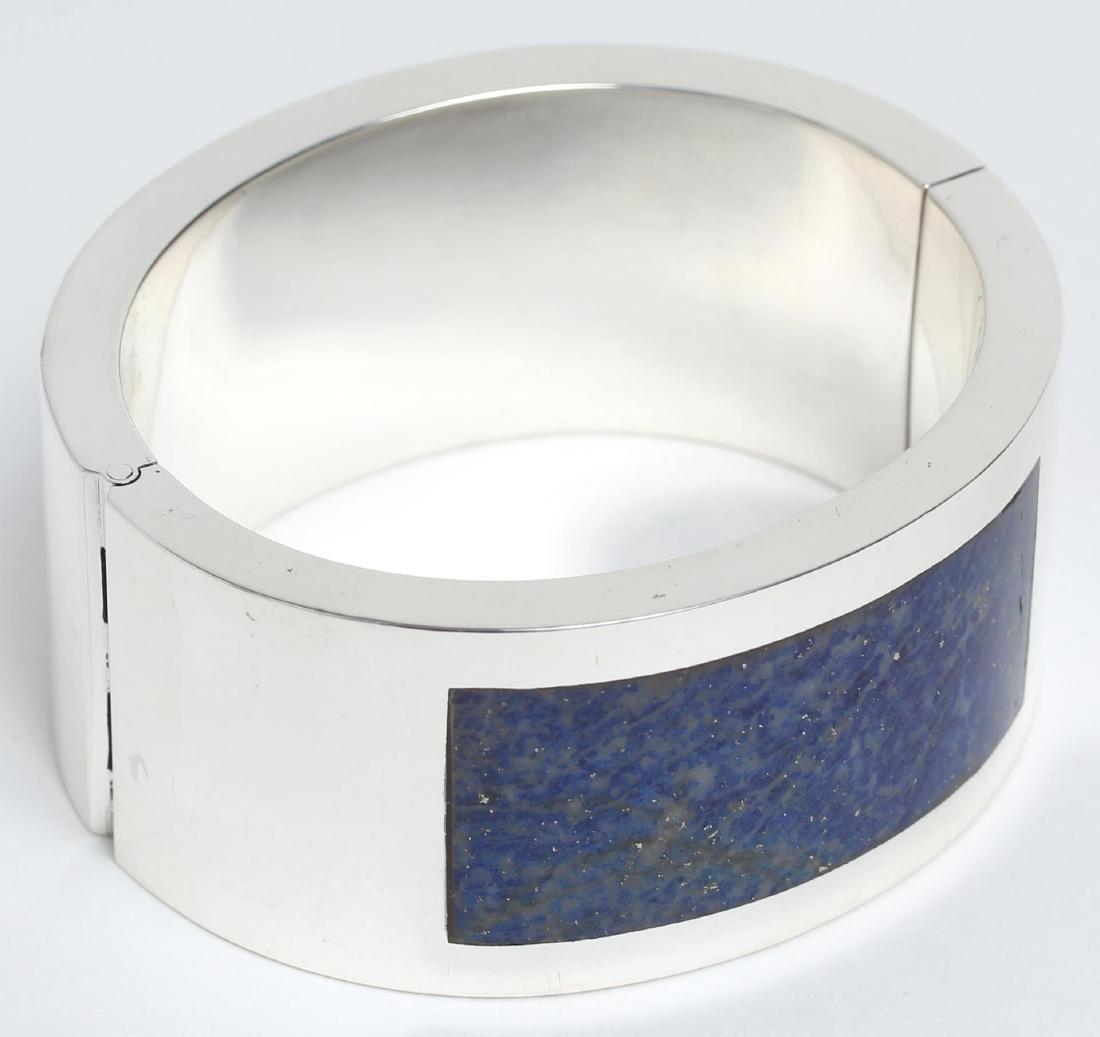 Soresiig Danish Sterling Silver & Lapis Bracelet