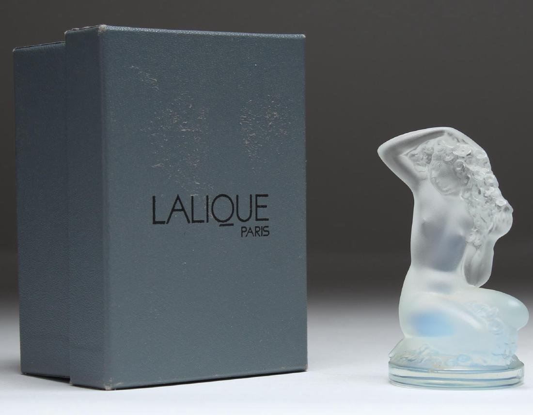 Lalique France Floreal Kneeling Nude Figurine