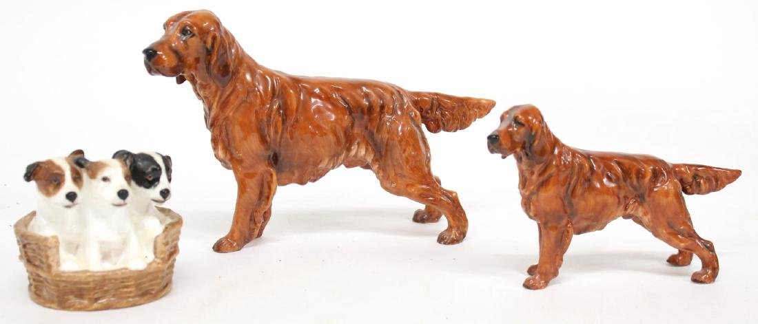 3 Royal Doulton Porcelain Dogs