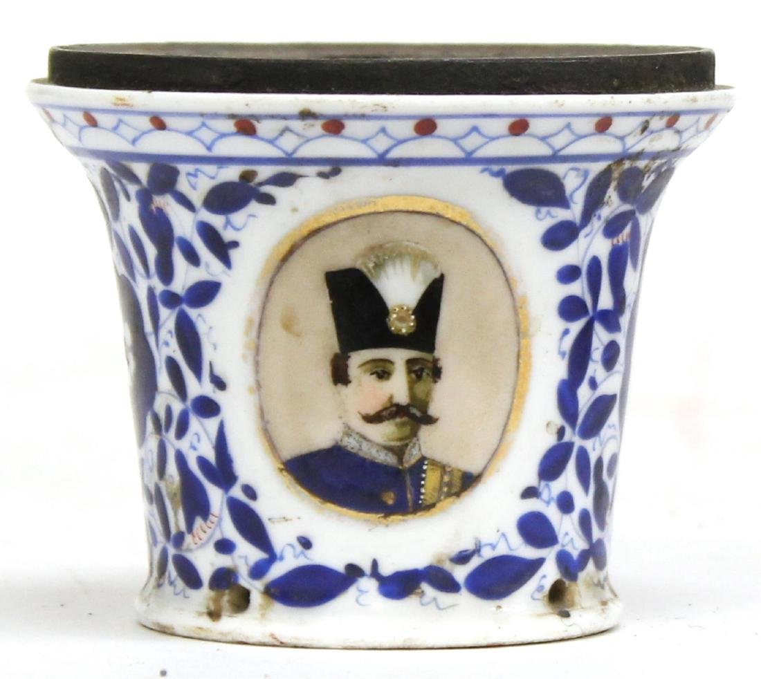 Antique Persian Ceramic Shisha / Hookah Throat