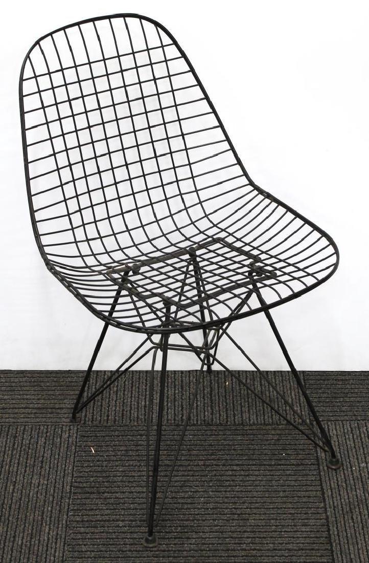 Harry Bertoia Knoll Vintage Black Wire Side Chair