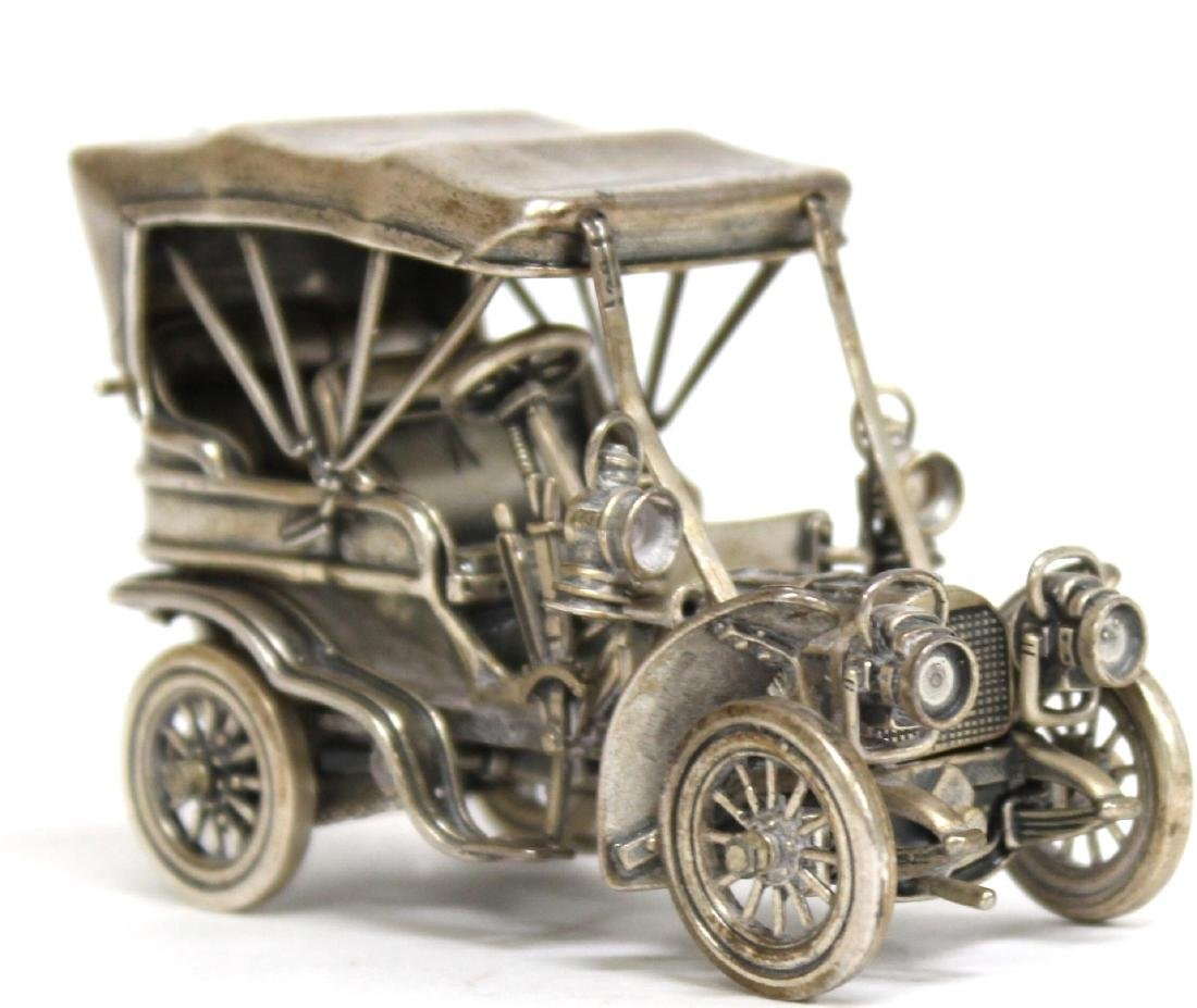 Solid Silver Antique ca. 1910 Touring Car Model