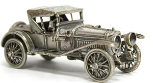 Solid Silver Antique 1920s Touring Car Model