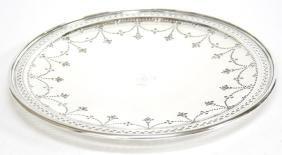 Tiffany & Co Sterling Silver Pierced Circular Tray