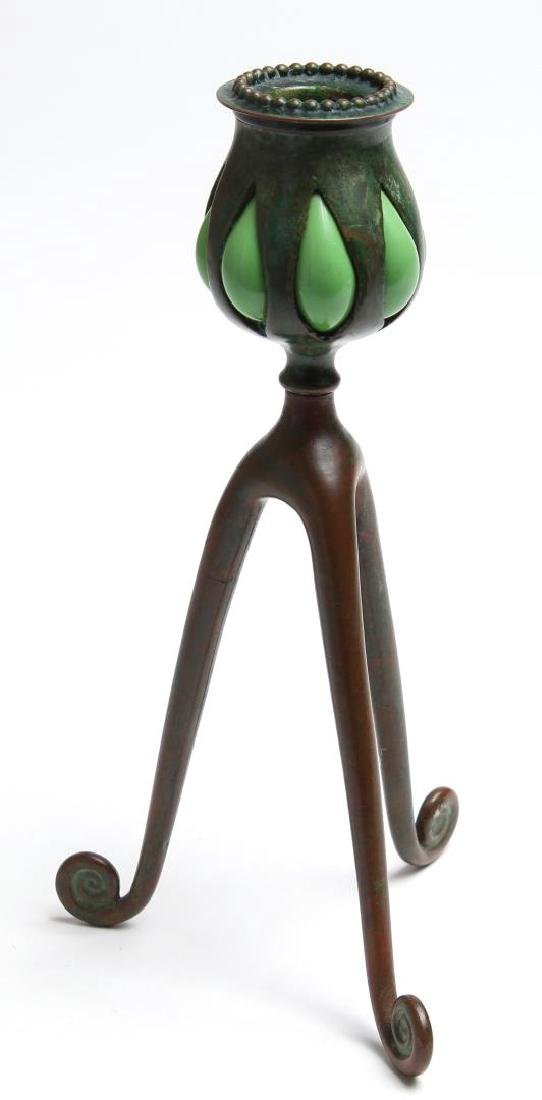 """Tiffany Studios """"Blown Out"""" Candlestick"""