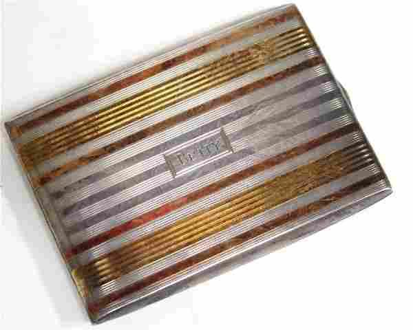 Napier Sterling Silver & 14K Gold Cigarette Case