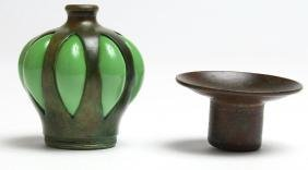"""Tiffany Studios """"Blown Out"""" Candle Cup"""