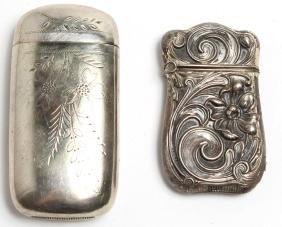2 Antique Match Safes, including Silver