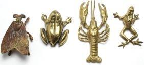 4 Gilt Bronze & Brass Decorative Trinkets