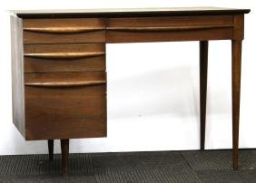 Mid-Century Modern Walnut & Laminate Writing Desk