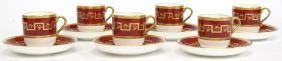 6 Minton for Tiffany Demitasse Cups & Saucers