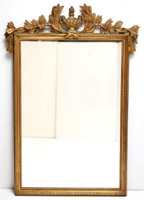 Empire-Style Gilt Wood Mirror