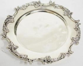 Shreve, Crump & Low Sterling Silver Card Salver
