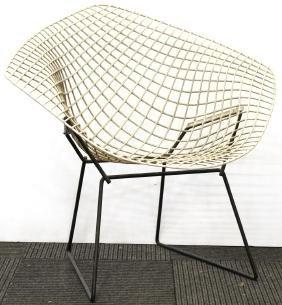 Harry Bertoia Knoll Vintage White Diamond Chair